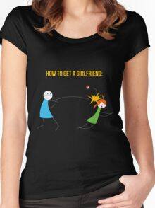 How to get a girlfriend Women's Fitted Scoop T-Shirt