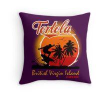 Tortola Caribbean Sea Throw Pillow