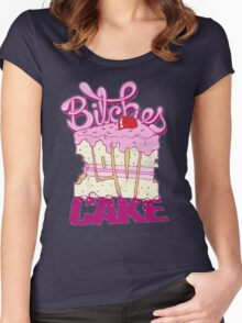 Bitches Love Cake Women's Fitted Scoop T-Shirt