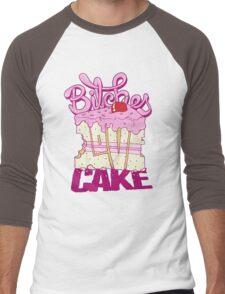 Bitches Love Cake Men's Baseball ¾ T-Shirt