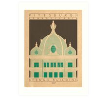 Keenan Building - 1907 (Green) Art Print