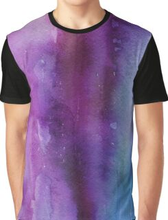Purple and Blue Watercolor Graphic T-Shirt