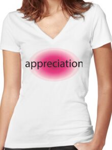 Appreciation Women's Fitted V-Neck T-Shirt