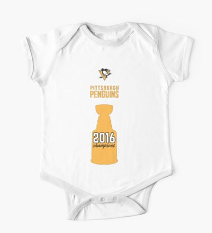 Pittsburgh Penguins 2016 Stanley Cup Champions One Piece - Short Sleeve