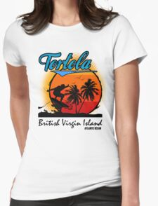 Tortola Beach Womens Fitted T-Shirt