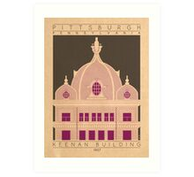 Keenan Building - 1907 (Purple) Art Print