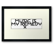 Music is my Remedy (RX) Framed Print