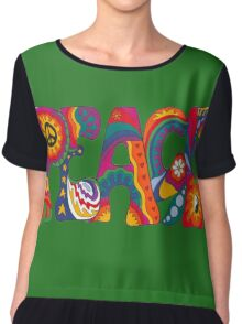 Psychedelic Peace Chiffon Top