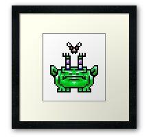 8bit Pixel Art Frog & Fly BFF Framed Print