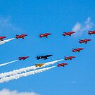 Red Arrows 50th Anniversary Formation by Colin Smedley