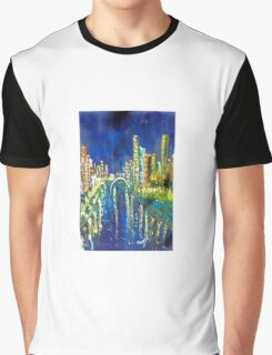 Southbank at Night Melbourne Vic Australia Graphic T-Shirt