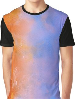 Orange and Blue Watercolor Graphic T-Shirt