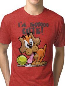 Pink Pig's Puppy Tri-blend T-Shirt