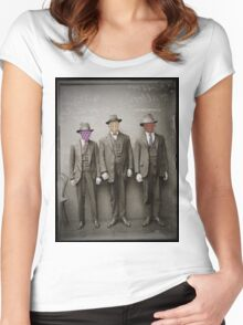 Three Criminals Arrested Women's Fitted Scoop T-Shirt