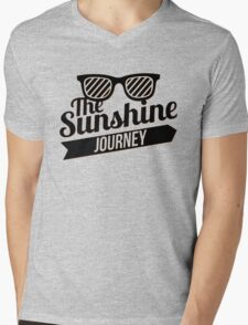 The Sunshine Journey (black) Mens V-Neck T-Shirt