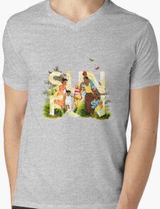 Sun Fun II Mens V-Neck T-Shirt