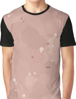 Rose Smoke Bubble Dot Color Accent Graphic T-Shirt