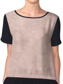Rose Smoke Oil Pastel Color Accent Chiffon Top
