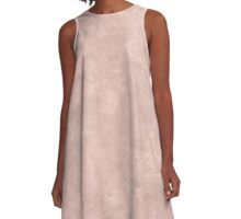 Rose Smoke Oil Pastel Color Accent A-Line Dress