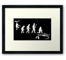 Funny Palaeontology Evolve Framed Print