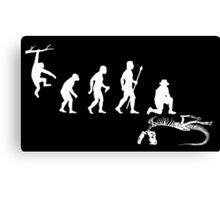 Funny Palaeontology Evolve Canvas Print