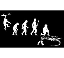 Funny Palaeontology Evolve Photographic Print