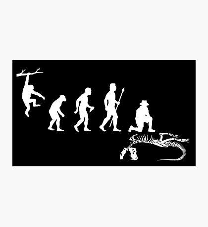 Funny Palaeontology Evolve Photographic Print