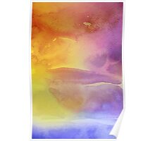 Yellow and Purple Watercolor Poster