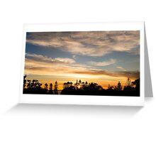East Coast Sunrise (pano) Greeting Card