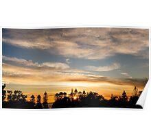 East Coast Sunrise (pano) Poster