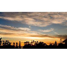 East Coast Sunrise (pano) Photographic Print
