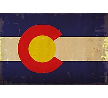 Colorado State Flag VINTAGE Photographic Print