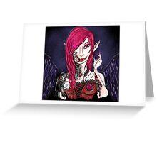 Steampunk Vampire Greeting Card