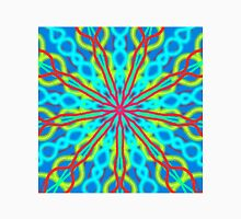 Mandala With Red Aqua And Yellow Unisex T-Shirt