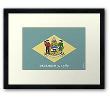 Delaware State Flag Framed Print