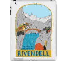 Rivendell Retro Travel Poster iPad Case/Skin