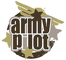 Army Pilot Photographic Print