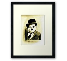 Charlie Chaplin the Great Framed Print