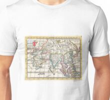 Vintage Map of Asia (1706) Unisex T-Shirt