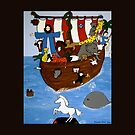 Noah's Ark Pillow and Tote bag by Shulie1