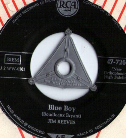 Jim Reeves Blue Boy 1958 Rockabilly 45 Sticker