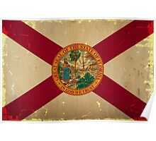 Florida State Flag VINTAGE Poster