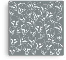 SKULLS in White Canvas Print