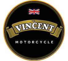 Vincent Vintage Motorcycles England Photographic Print