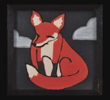 Moody Little Red Fox Kids Tee