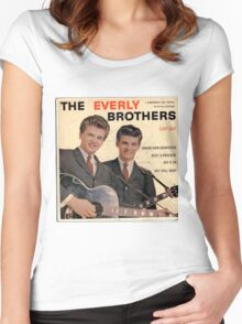 The Everly Brothers 1958 Rockabilly ep cover Women's Fitted Scoop T-Shirt