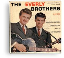 The Everly Brothers 1958 Rockabilly ep cover Canvas Print