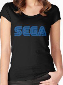 SEGA classic video games logo Women's Fitted Scoop T-Shirt