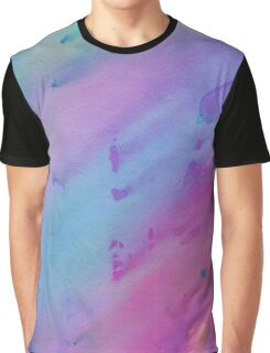 Pink, Blue and Purple Watercolor Graphic T-Shirt