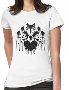 Dan Smith Inkblot Womens Fitted T-Shirt